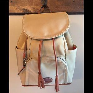 Dooney & Bourke Large Canvas Side Pocket Backpack